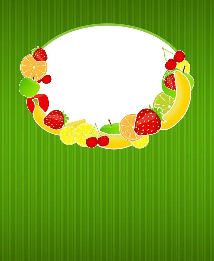 Zdrowa karmowa menu szablonu wektoru ilustracja ilustracja wektor