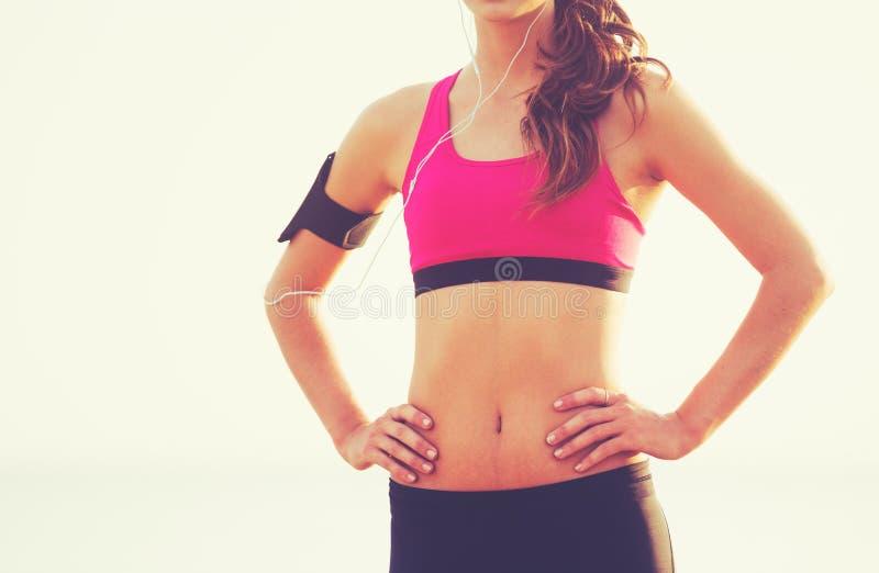 Zdrowa sport sprawności fizycznej kobieta fotografia royalty free