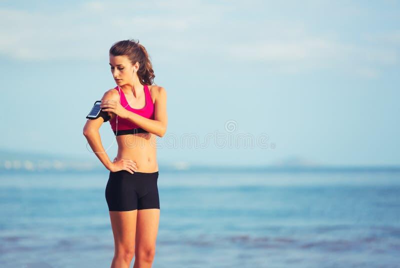 Zdrowa sport sprawności fizycznej kobieta zdjęcia royalty free