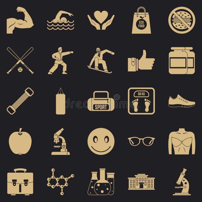 Zdrowe nar?d ikony ustawia?, prosty styl royalty ilustracja