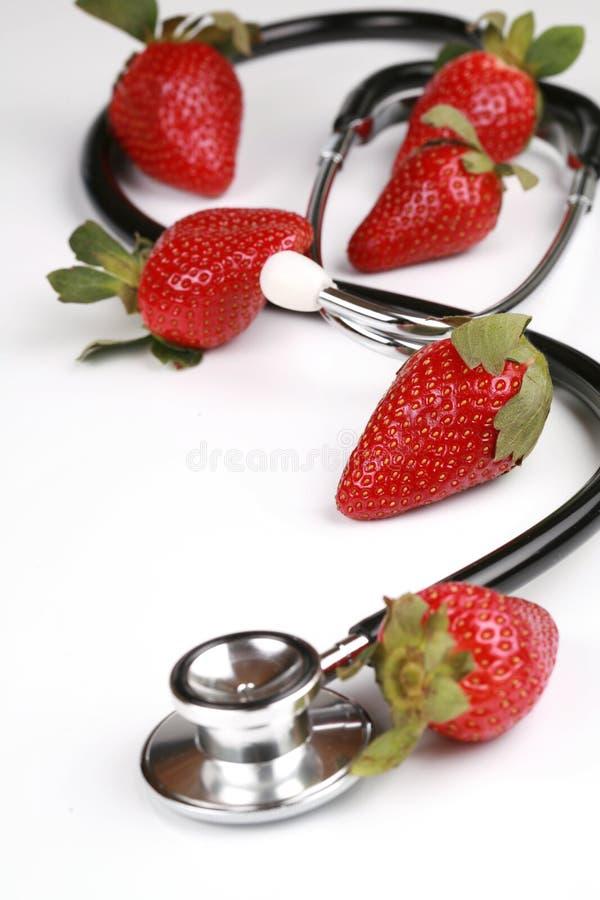 zdrowe przekąsek truskawki zdjęcie royalty free