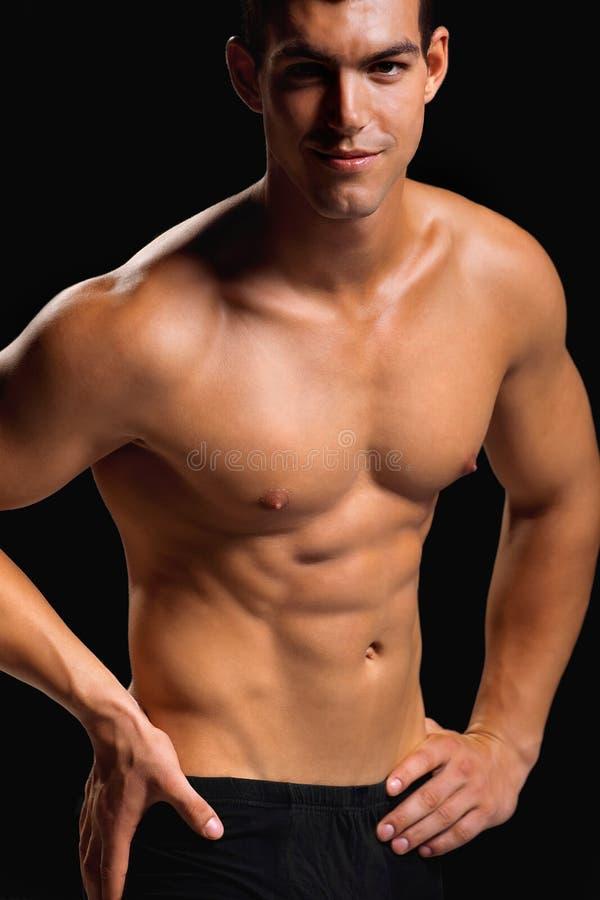 zdrowego mężczyzna mięśniowi potomstwa zdjęcie royalty free