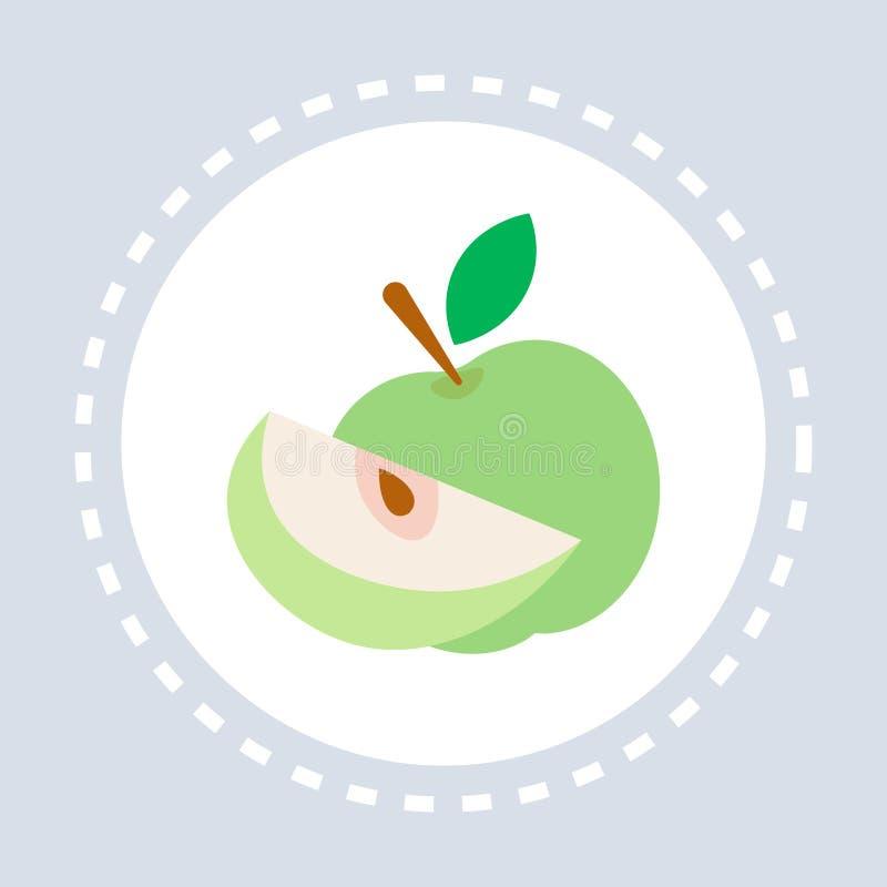 Zdrowej świeżej żywności ikony opieki zdrowotnej usługi zdrowotnej logo jabłczana owocowa medycyna i zdrowie symbolu pojęcia mies royalty ilustracja