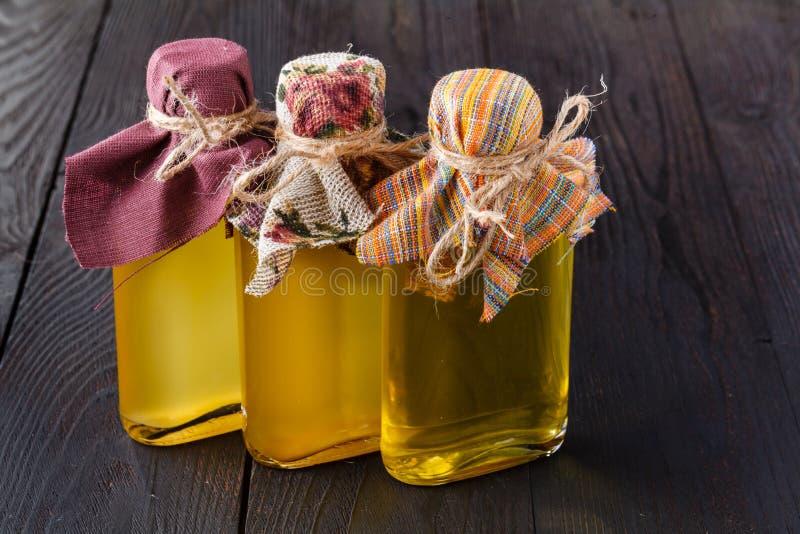 Zdrowej diety flaxseeds linseed oleju omega-3 foods zdjęcie stock