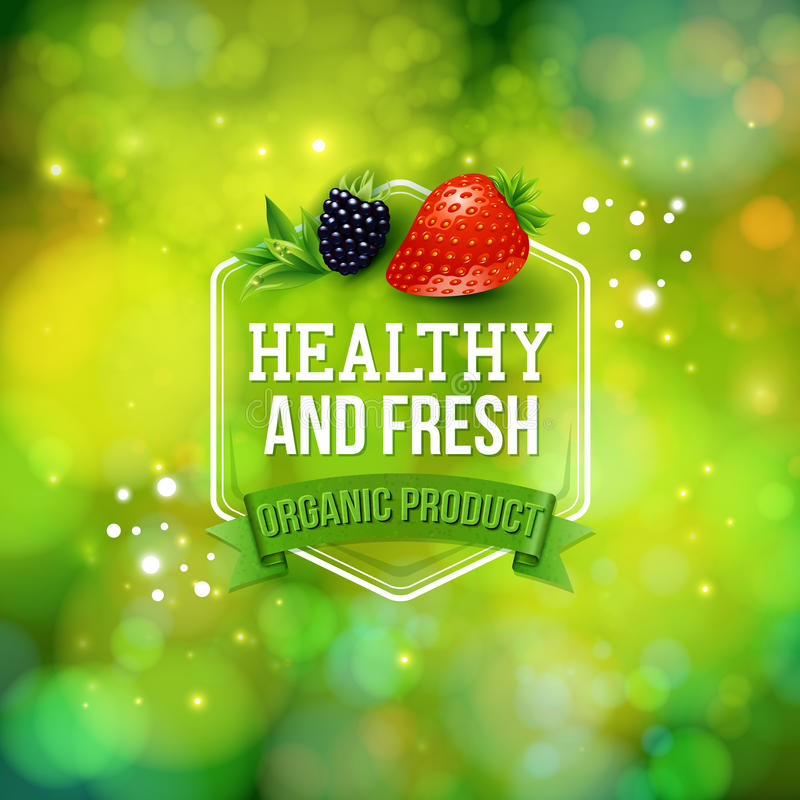 Zdrowej produkt karty wektorowy projekt ilustracji