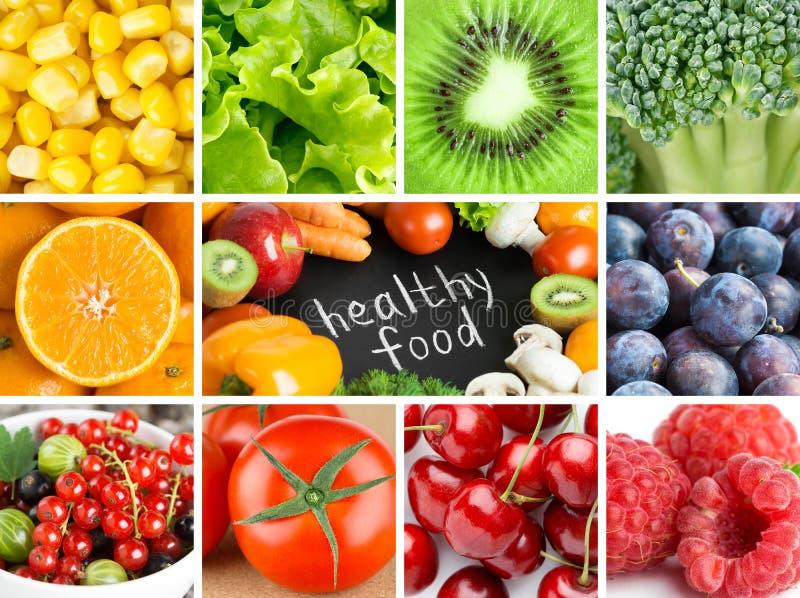Zdrowi świezi koloru jedzenia tła zdjęcie royalty free