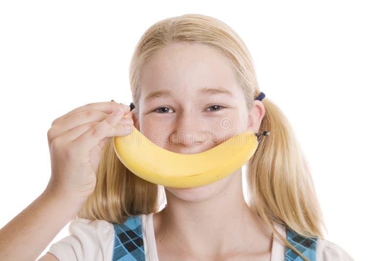 Zdrowi bananów uśmiechy zdjęcie royalty free