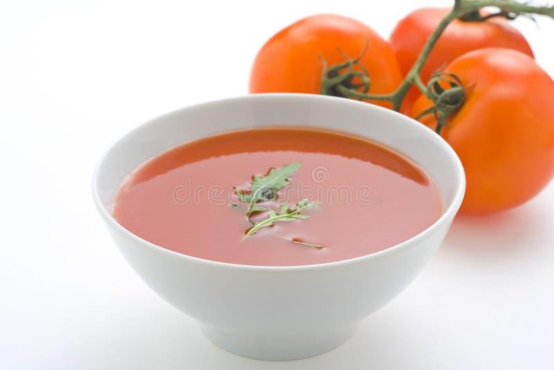 zdrowi domowej roboty zupni pomidorowi warzywa fotografia royalty free