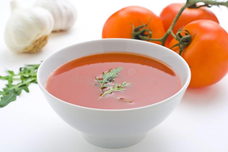 zdrowi domowej roboty zupni pomidorowi warzywa zdjęcia stock