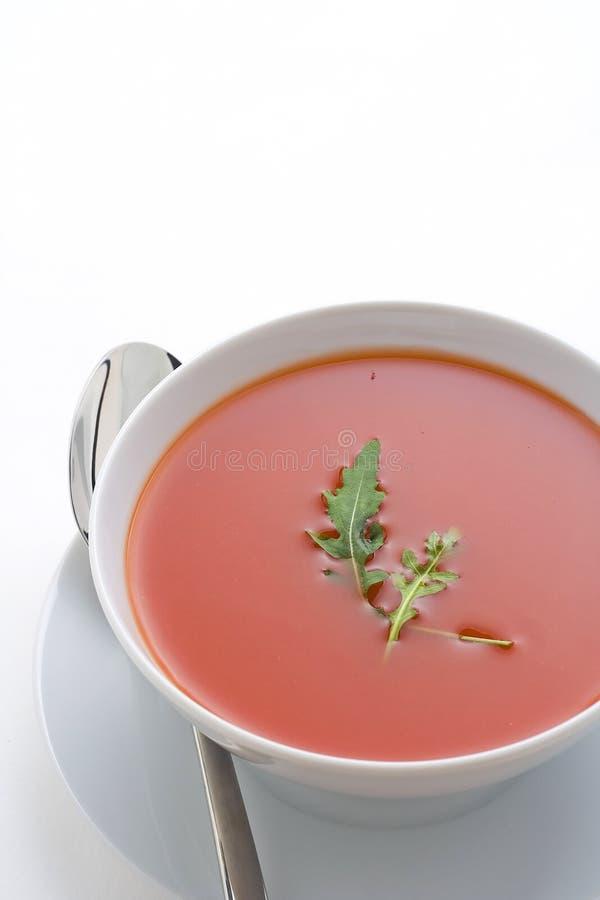 zdrowi domowej roboty zupni pomidorowi warzywa obrazy stock