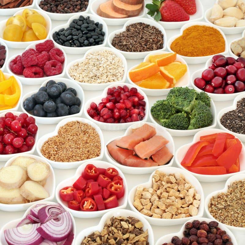 Zdrowi Karmowi odżywiań zdrowie na dobre fotografia stock