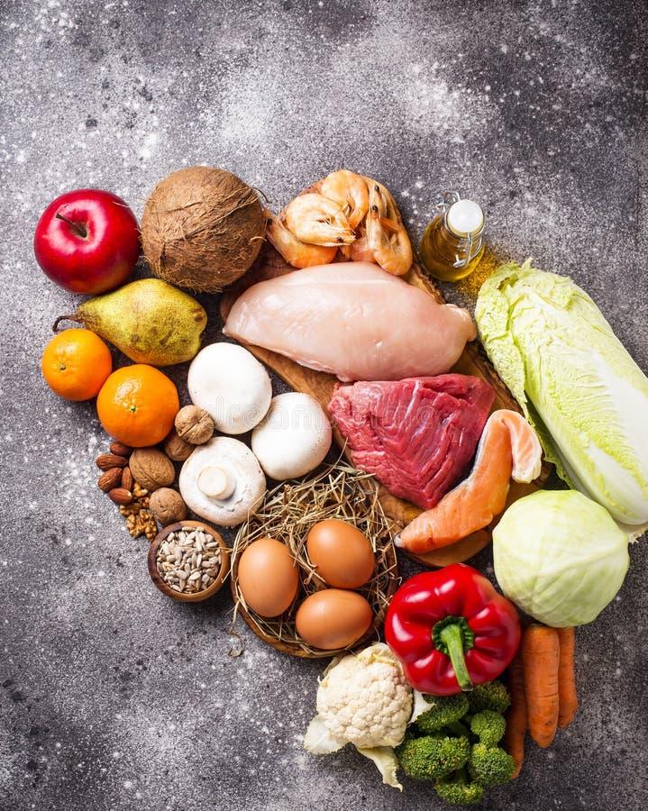 Zdrowi produkty dla paleo diety zdjęcie stock