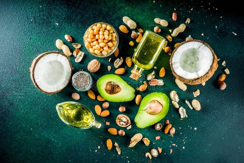 Zdrowi weganinu sadła źródła obrazy stock