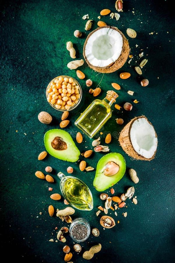 Zdrowi weganinu sadła źródła zdjęcie stock