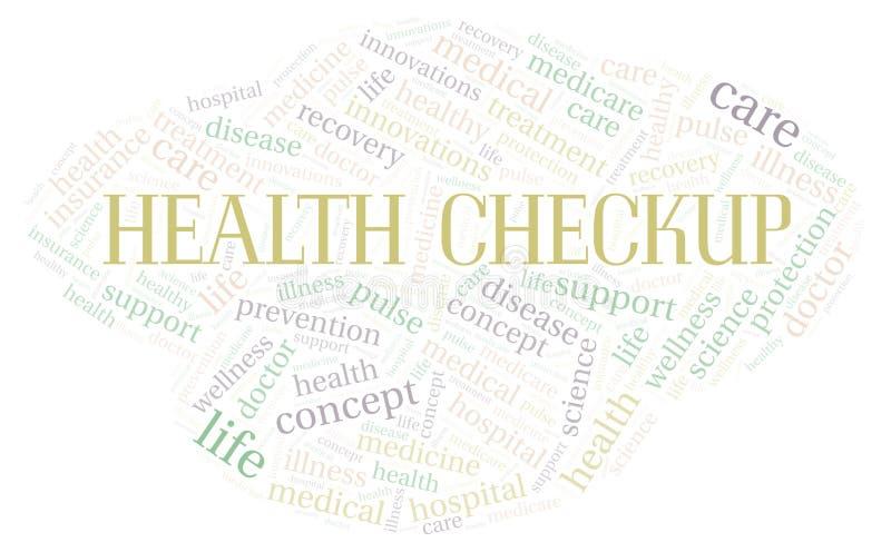 Zdrowia Checkup słowa chmura royalty ilustracja