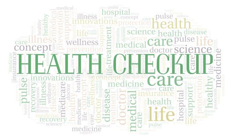 Zdrowia Checkup słowa chmura ilustracji