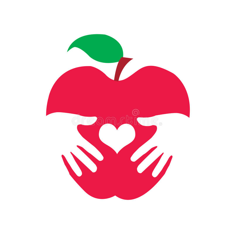 Zdrowia jabłka logo royalty ilustracja