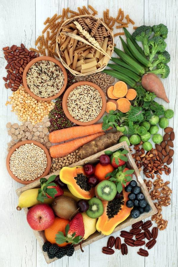 Zdrowia jedzenie dla Wysokiej włókno diety zdjęcie stock