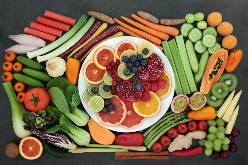 Zdrowia jedzenie dla Zdrowego ?asowania zdjęcia stock