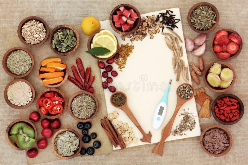 Zdrowia jedzenie dla Zimnego remedium zdjęcie royalty free