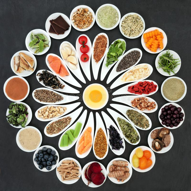 Zdrowia jedzenie Podnosić Móżdżkową władzę zdjęcie royalty free