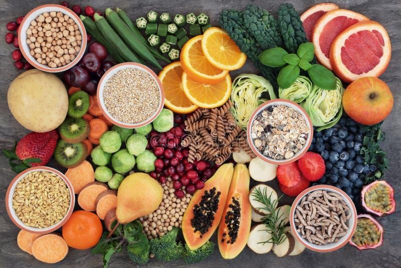 Zdrowia jedzenie z Wysoką włókno zawartością zdjęcie stock