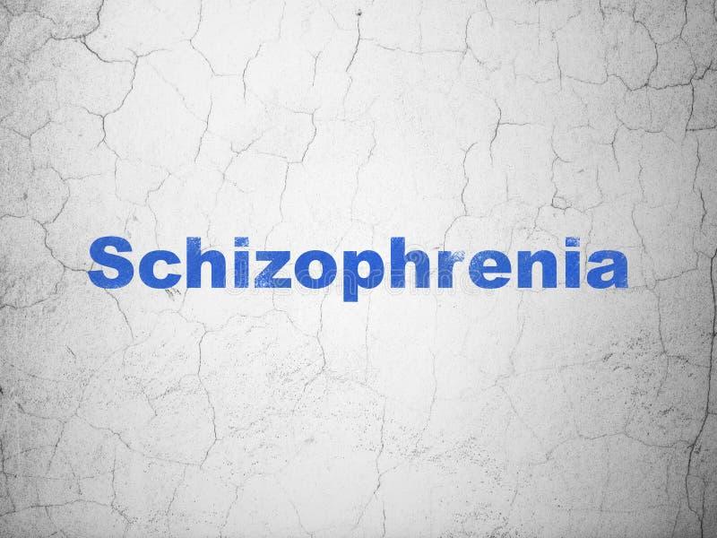 Zdrowia pojęcie: Schizofrenia na ściennym tle ilustracja wektor
