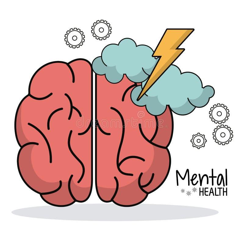 Zdrowia psychicznego brainstorm pracy przekładnia ilustracji