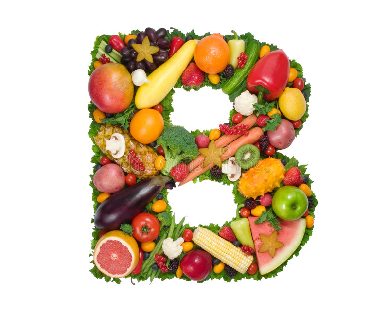 zdrowie alfabetu b obraz royalty free