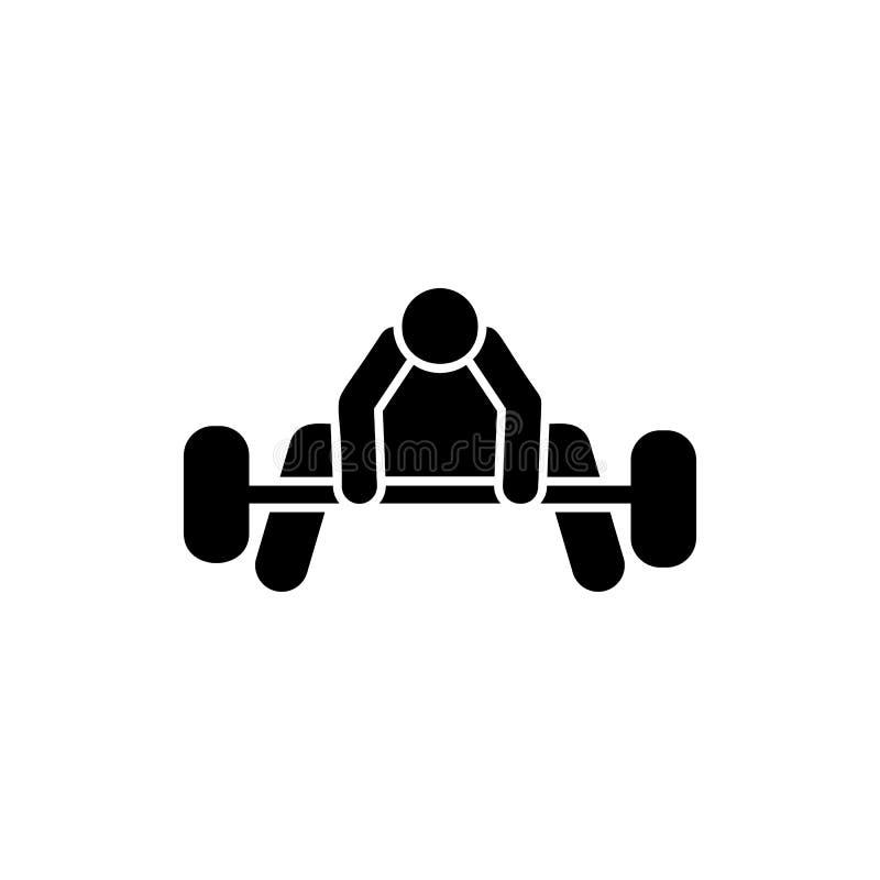 Zdrowie, ciężar, sporty, mężczyzna ikona Element gym piktogram Premii ilo?ci graficznego projekta ikona znaki i symbole inkasowi ilustracji
