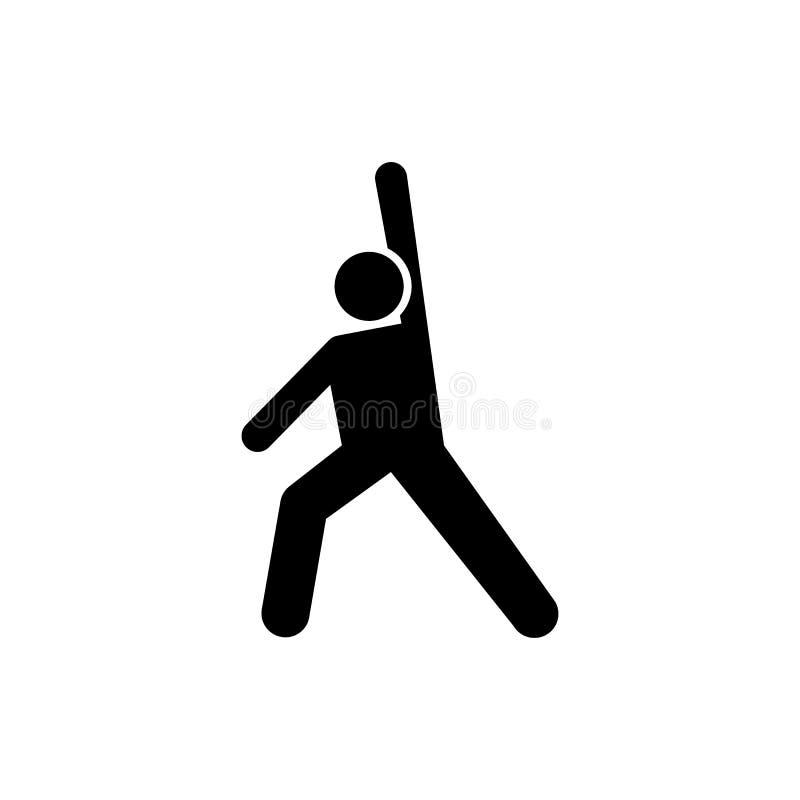 Zdrowie, ciężar, sporty, mężczyzna ikona Element gym piktogram Premii ilo?ci graficznego projekta ikona znaki i symbole inkasowi ilustracja wektor