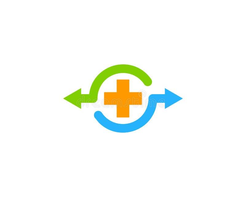 Zdrowie części ikony loga projekta Medyczny element royalty ilustracja