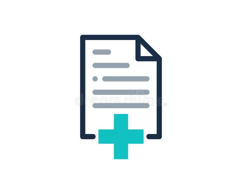 Zdrowie dokumentu ikony loga projekta Medyczny element ilustracji