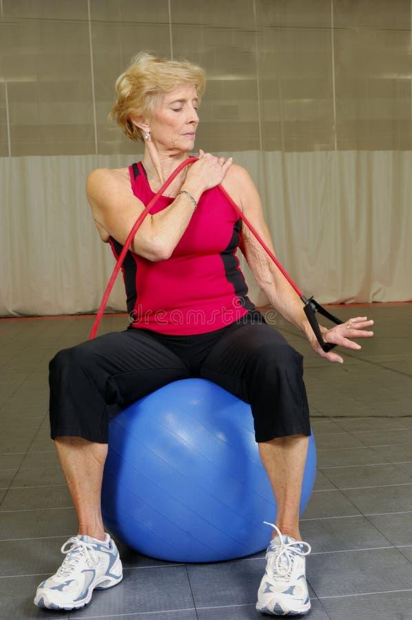 zdrowie fizyczne fitness senior obraz stock