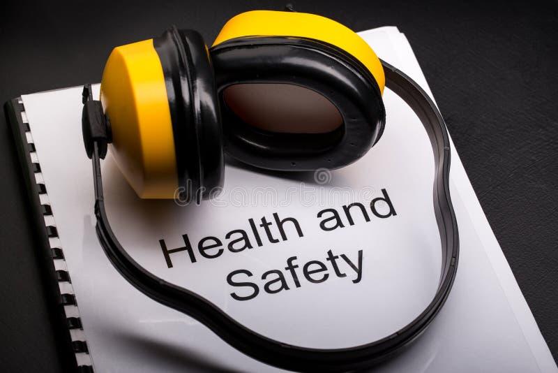 Zdrowie i bezpieczeństwo rejestr obrazy stock