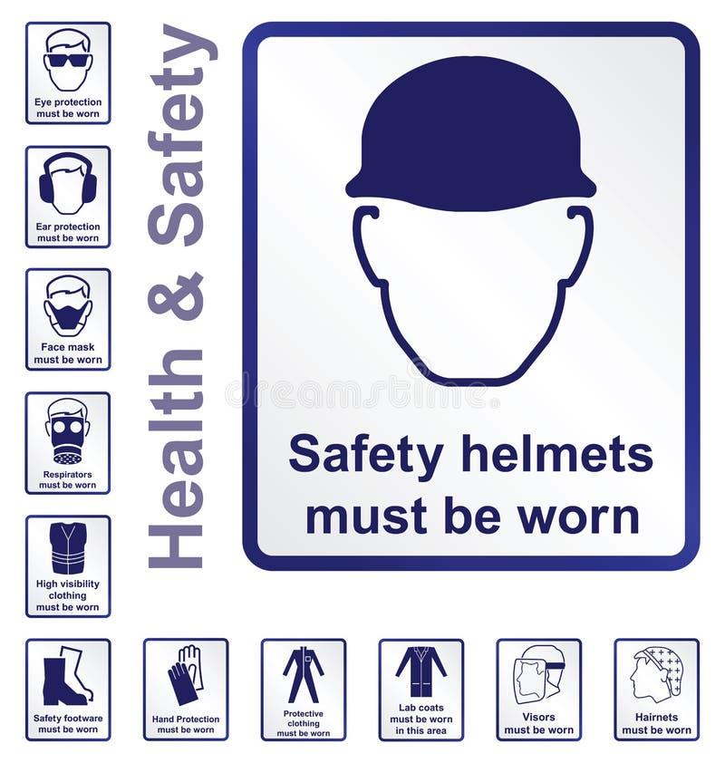 Zdrowie i bezpieczeństwo znaki ilustracja wektor