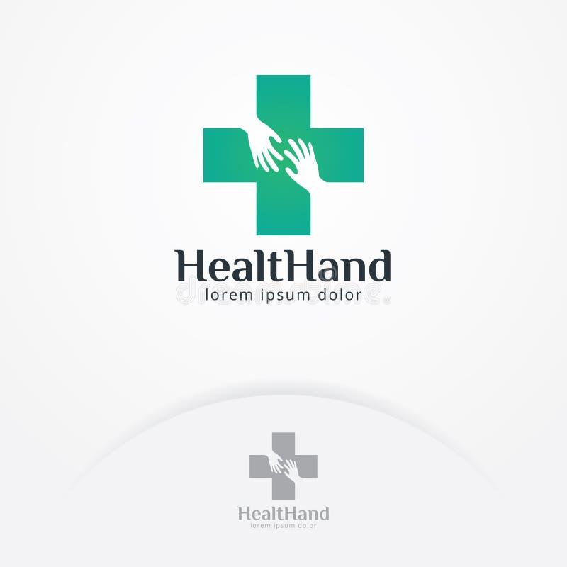 Zdrowie i ręk logo projekt royalty ilustracja