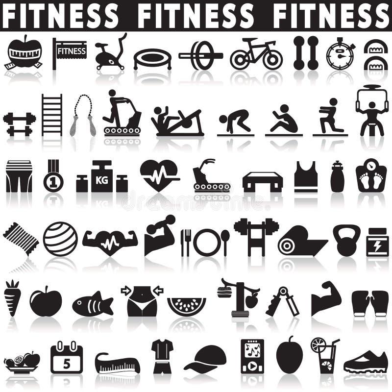 Zdrowie i sprawności fizycznej ikony ilustracji