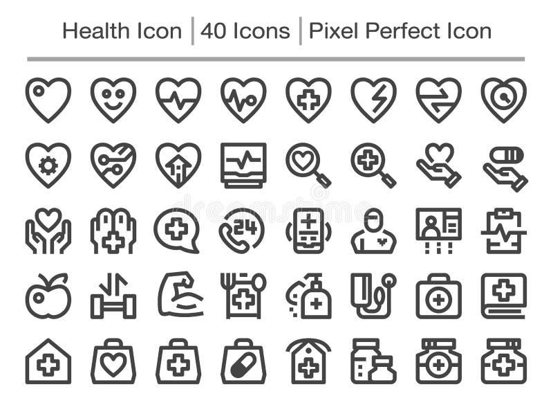 Zdrowie ikona ilustracja wektor