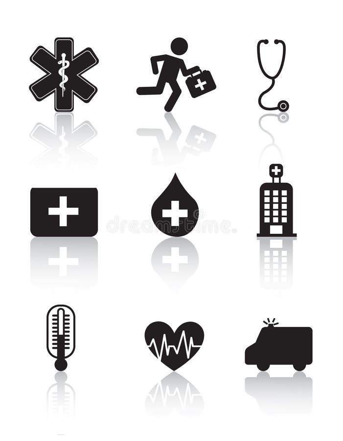 Zdrowie ikona royalty ilustracja