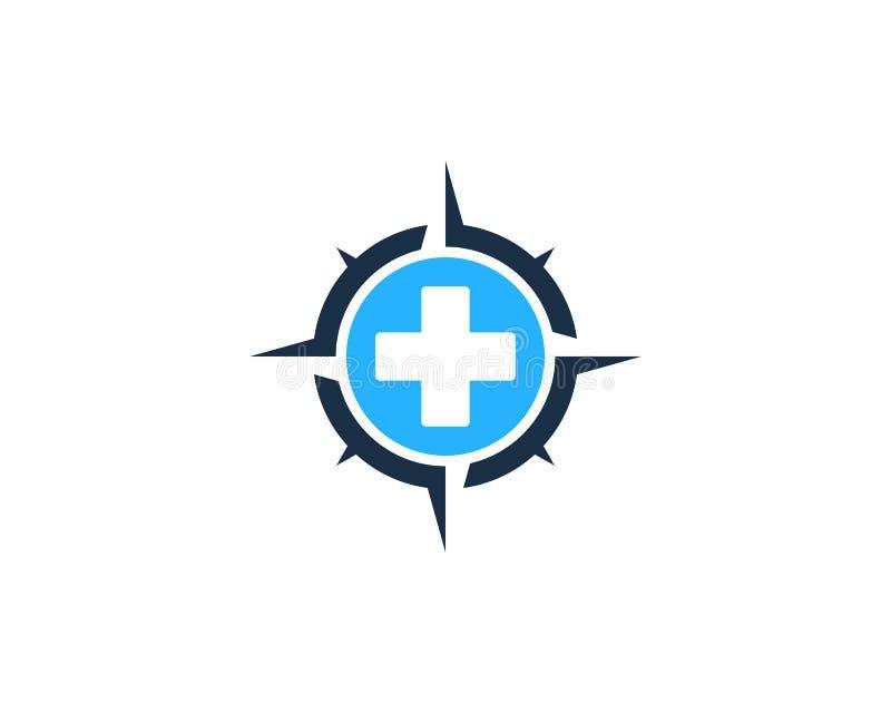 Zdrowie ikony loga projekta Medyczny Cyrklowy element ilustracja wektor