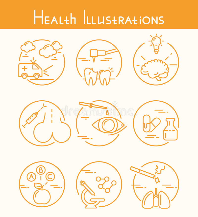 Zdrowie ilustracje royalty ilustracja