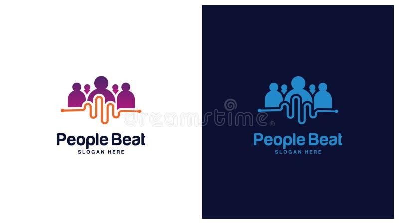 Zdrowie loga projekta pojęcie, Różni typ zdrowie logowie, Prosty loga projekta wektor ilustracji