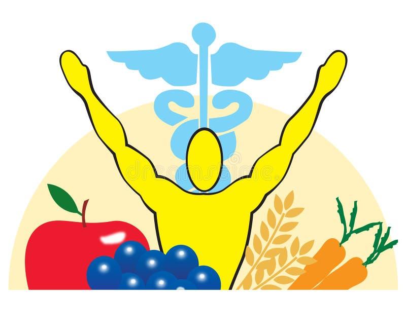 zdrowie medycyny odżywianie royalty ilustracja