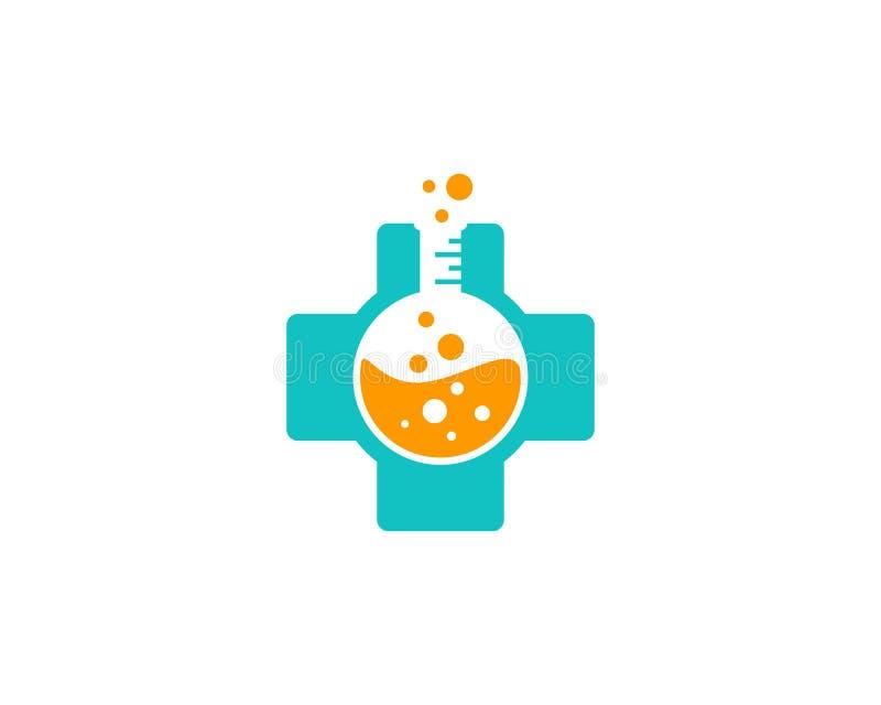 Zdrowie nauki medyczne Lab ikony loga projekta element royalty ilustracja