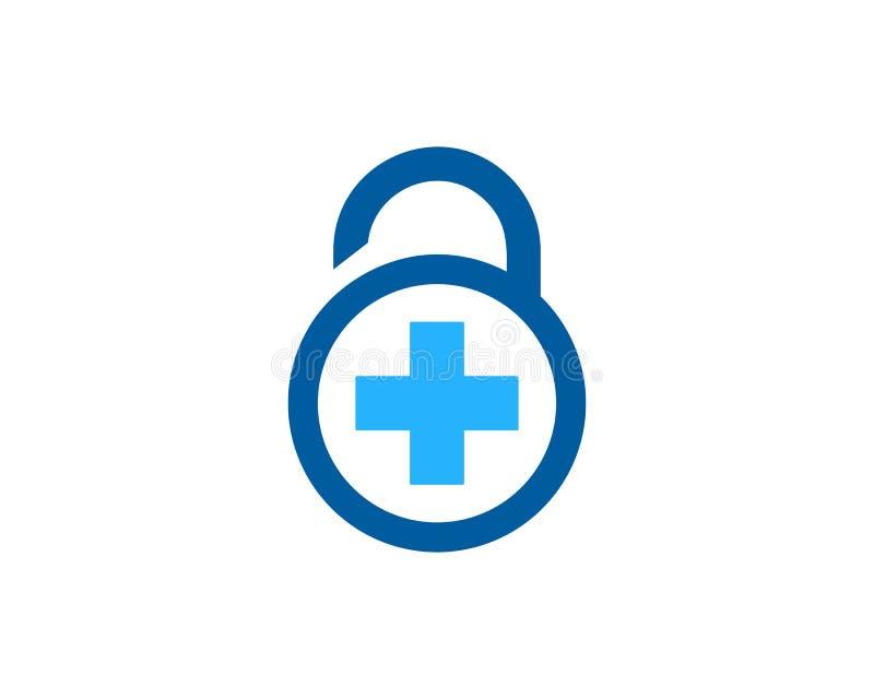 Zdrowie ochrony ikony loga projekta Medyczny element royalty ilustracja