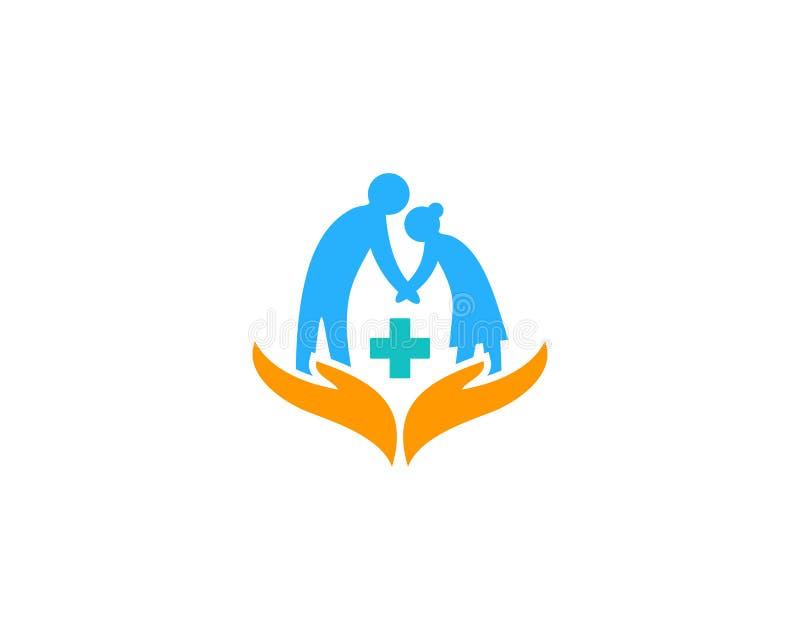 Zdrowie opieki medycznej ikony loga projekta element royalty ilustracja