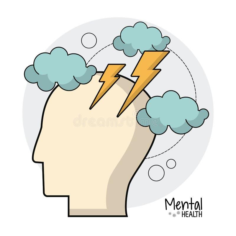 Zdrowie psychiczne móżdżkowej burzy pomysły ilustracji