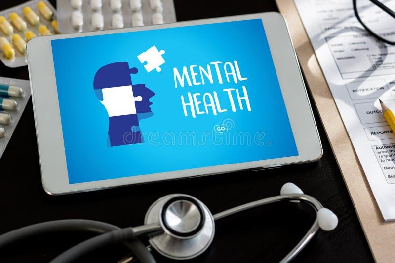 ZDROWIE PSYCHICZNE Psychologicznego stresu Umysłowy zarządzanie i Psychol obraz stock