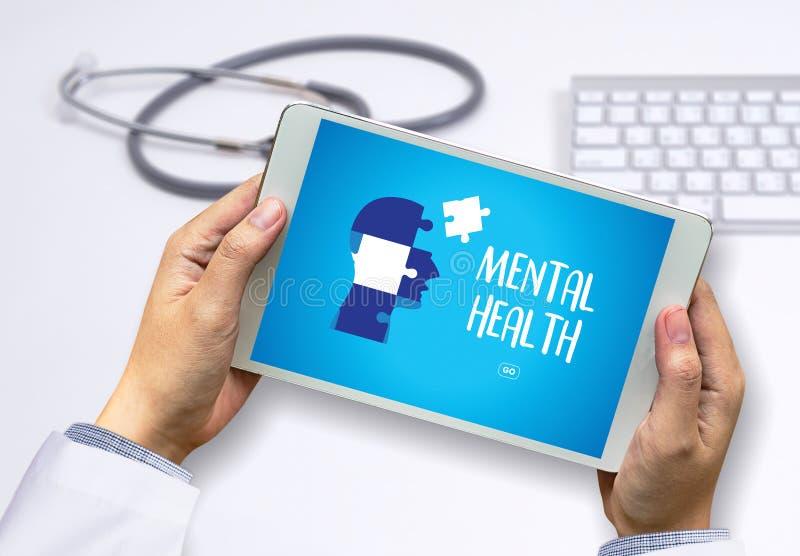 ZDROWIE PSYCHICZNE Psychologicznego stresu Umysłowy zarządzanie i Psychol obrazy stock